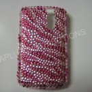 New Hot Pink Zebra Design Bling Diamond Case For Blackberry 8300 - (0027)