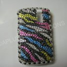 New Multi-Color Zebra Design Bling Diamond Case For Blackberry 8300 - (0030)