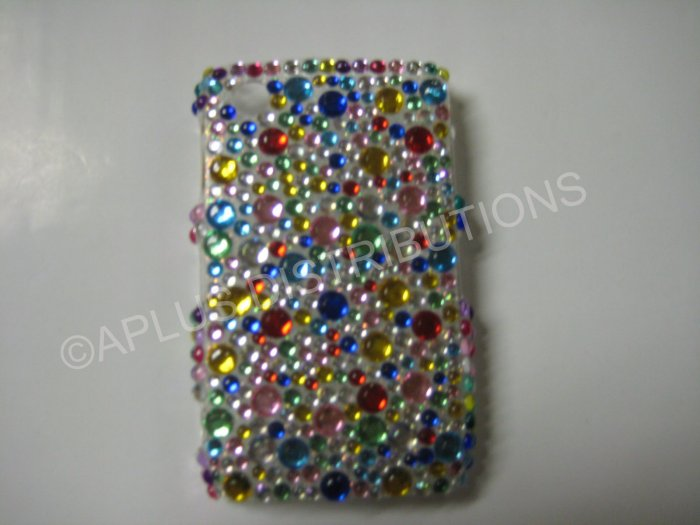 New Multi-Color Multi-Diamonds Bling Diamond Case For Blackberry 8520 - (0014)