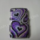 New Purple Heart Series Bling Diamond Case For Blackberry 8520 - (0017)