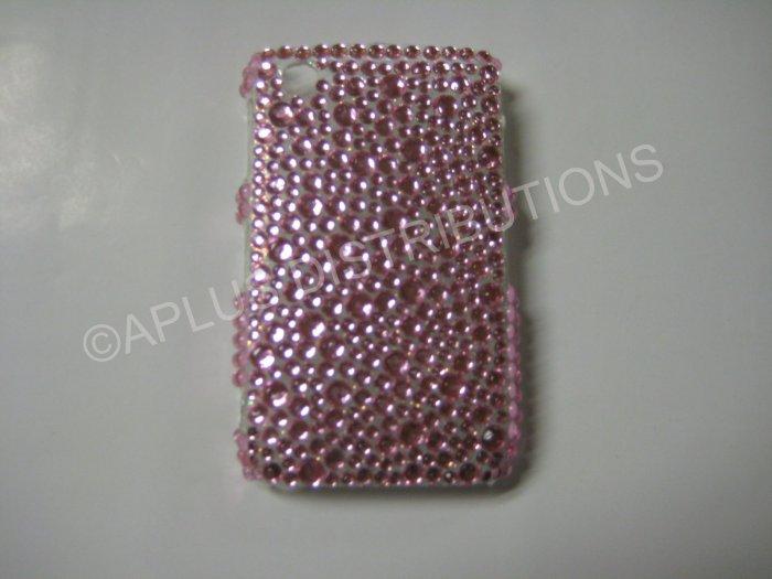 New Pink Multi-Diamonds Bling Diamond Case For Blackberry 8520 - (0018)