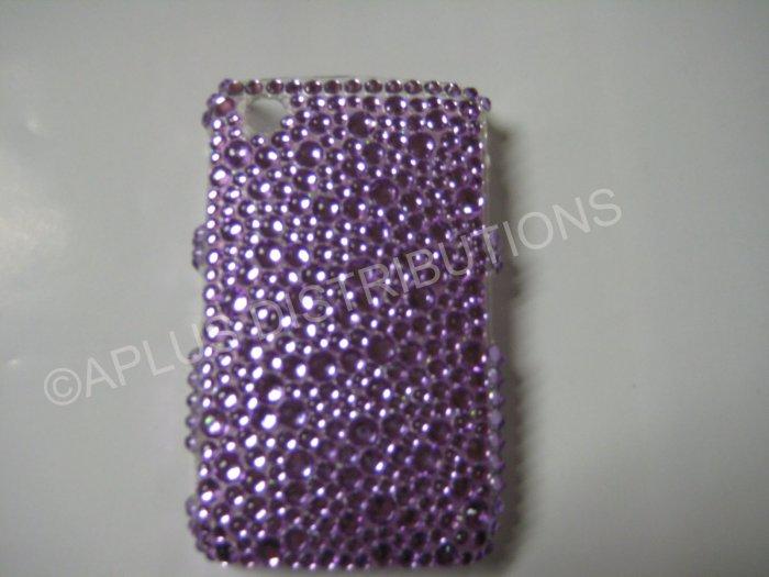 New Purple Multi-Diamonds Bling Diamond Case For Blackberry 8520 - (0019)