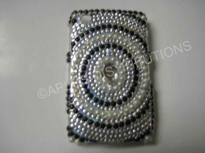 New Black Diamond In Circle Bling Diamond Case For Blackberry 8520 - (0023)