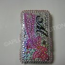 New Pink Initial M W/Bow Bling Diamond Case For Blackberry 9700 - (0092)