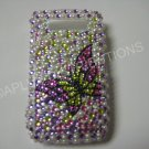 New Pink Open Butterfly W/Pearls Bling Diamond Case For Blackberry 8900 - (0055)