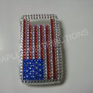 New Red/White/Blue American Flag Crystal Bling Diamond Case For Blackberry 8900 - (0060)
