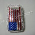 New Red/White/Blue American Flag Crystal Bling Diamond Case For Blackberry 8900 - (0060)