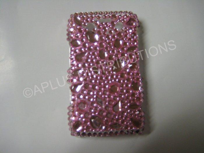 New Hot Pink Multi-Size Diamonds Bling Diamond Case For Blackberry 9700 - (0091)