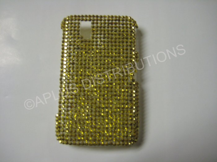 New Gold Solid Bling Diamond Case For Blackberry 9630 - (0080)
