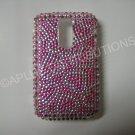 New Pink Multiple Hearts Bling Diamond Case For Blackberry 9000 - (0065)