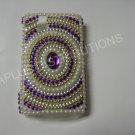 New Purple Diamond In Circle/Pearls Bling Diamond Case For Blackberry 9630 - (0067)