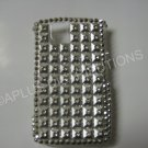 New Silver Retro Series (Squares) Bling Diamond Case For Blackberry 9630 - (0021)