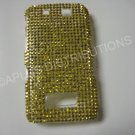 New Gold Solid Diamonds Bling Diamond Case For Blackberry 9500 - (0080)