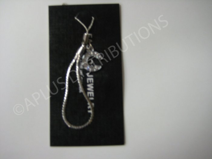 NEW Crystal Cell Phone Charm-  Small Letter �C� Regular