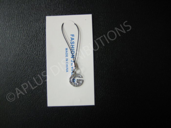 NEW Crystal Cell Phone Charm-  Small Letter �G� Regular