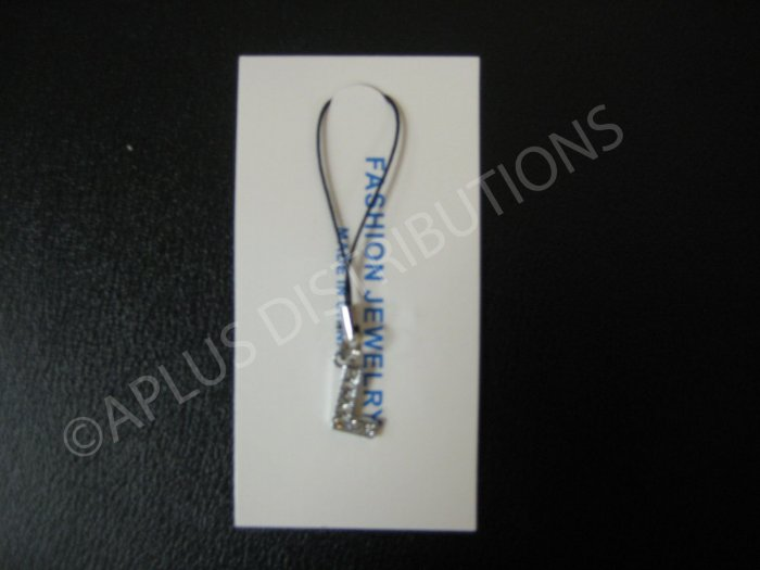 NEW Crystal Cell Phone Charm-  Small Letter �L� Regular