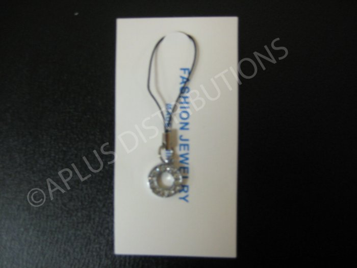 NEW Crystal Cell Phone Charm-  Small Letter �O� Regular