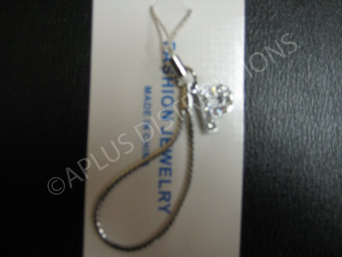 NEW Crystal Cell Phone Charm-  Small Letter �P� Regular