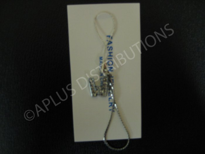 NEW Crystal Cell Phone Charm-  Small Letter �W� Regular