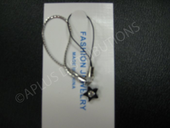 NEW Crystal Cell Phone Charm- Star