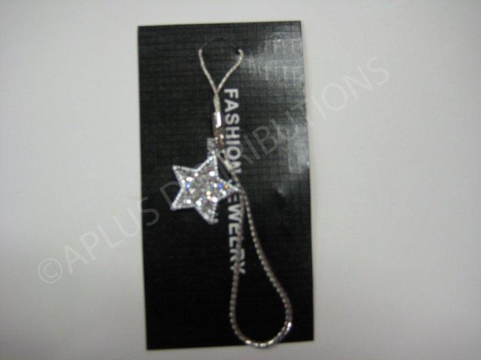 NEW Crystal Cell Phone Charm- Clear Star Multi-Diamonds