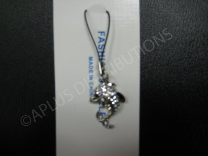 NEW Crystal Cell Phone Charm-Blue Dolphine