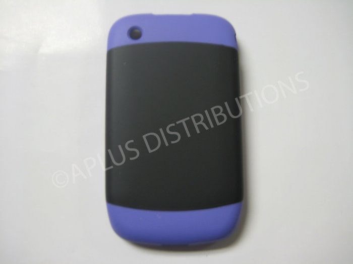New Purple Rubberized Hard Cover For Blackberry 8520 - (0115)