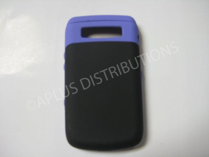 New Purple Rubberized Hard Protective Cover For Blackberry 9700 - (0115)
