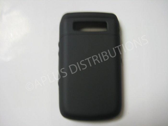 New Black Rubberized Hard Protective Cover For Blackberry 9700 - (0112)