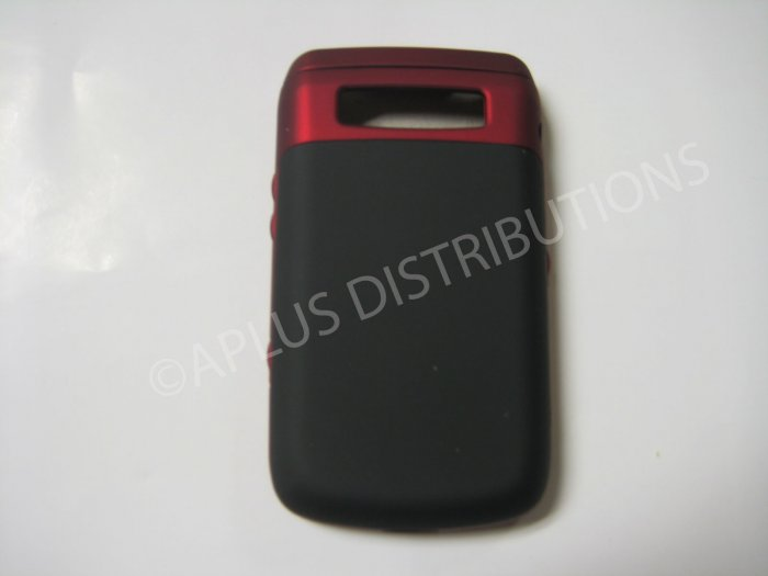 New Red Rubberized Hard Protective Cover For Blackberry 9700 - (0126)