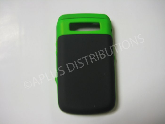 New Green Rubberized Hard Protective Cover For Blackberry 9700 - (0114)
