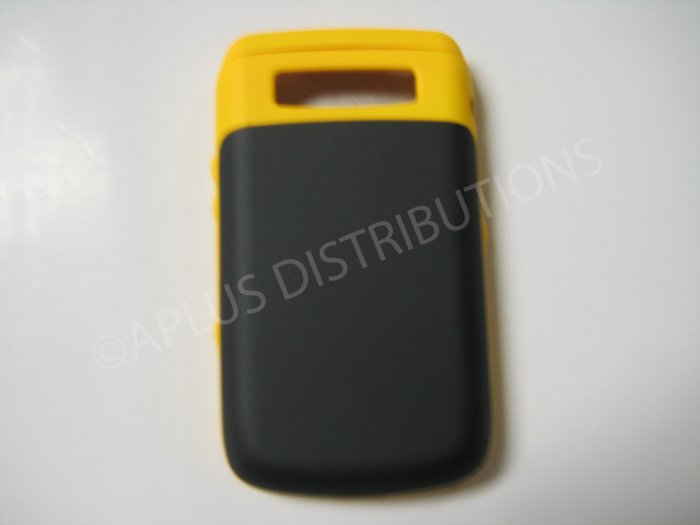 New Yellow Rubberized Hard Protective Cover For Blackberry 9700 - (0113)