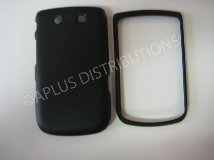 New Black Rubberized Hard Protective Cover For Blackberry 9800 - (0155)