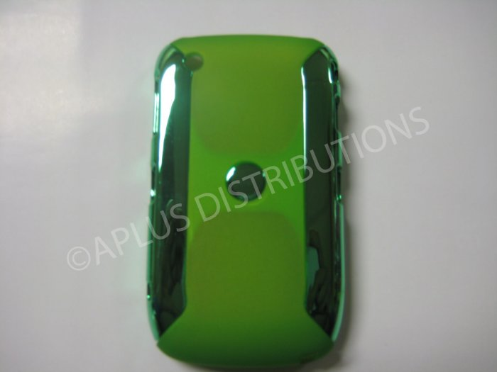 New Green Metallic Two Piece Design Hard Protective Cover For Blackberry 8520 - (0118)