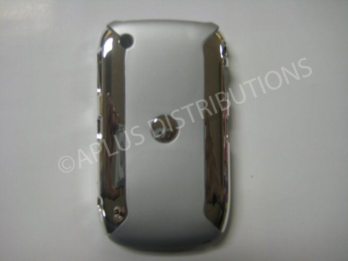 New Silver Metallic Two Piece Design Hard Protective Cover For Blackberry 8520 - (0117)