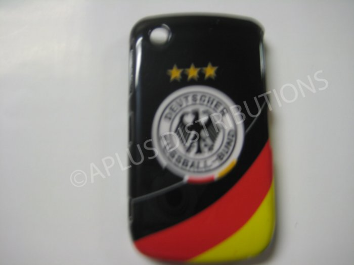 New Black Deutscher Fussball-Bund Design Hard Protective Cover For Blackberry 8520 - (0054)