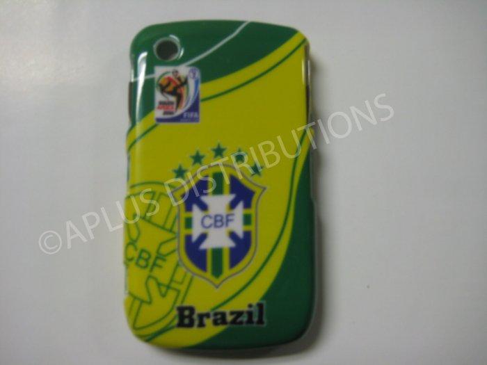 New Green Brazil Cbf Design Hard Protective Cover For Blackberry 8520 - (0051)