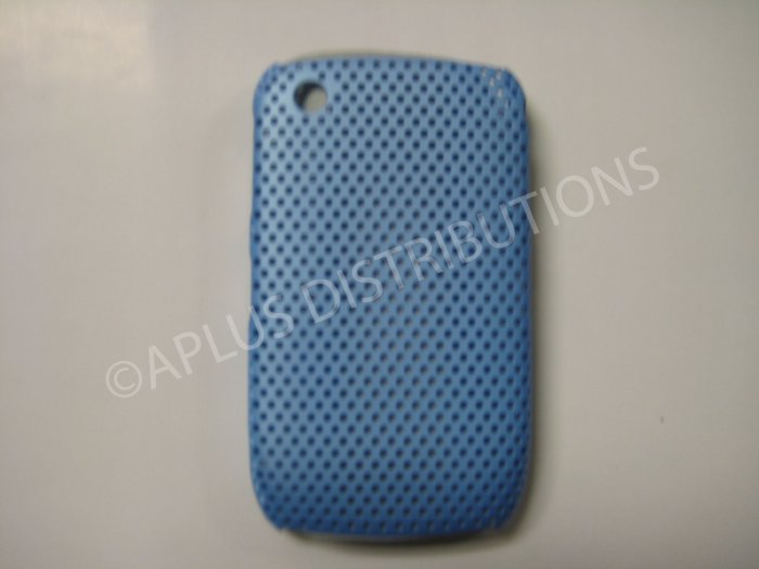 New Sky Blue Lattice Pattern Design Hard Protective Cover For Blackberry 8520 - (0057)