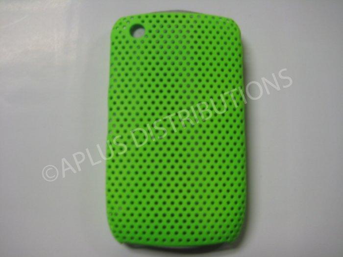 New Green Lattice Pattern Design Hard Protective Cover For Blackberry 8520 - (0055)