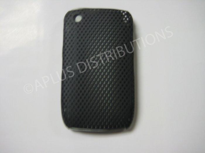 New Black Lattice Pattern Design Hard Protective Cover For Blackberry 8520 - (0014)
