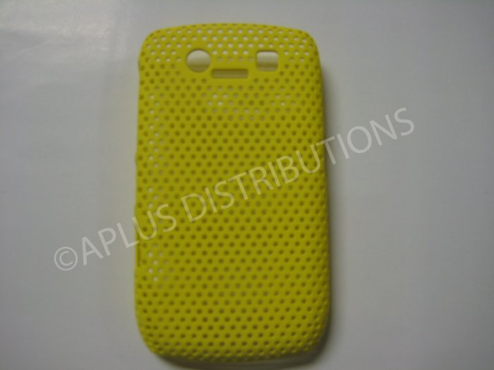 New Yellow Lattice Pattern Design Hard Protective Cover For Blackberry 8900 - (0056)