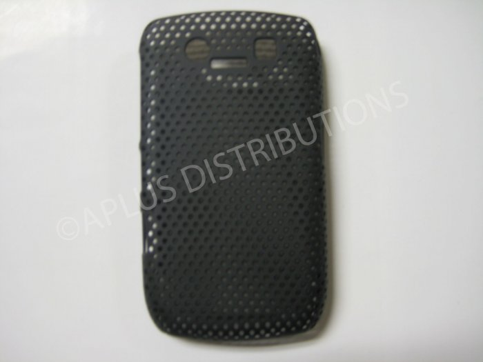 New Black Lattice Pattern Design Hard Protective Cover For Blackberry 8900 - (0014)
