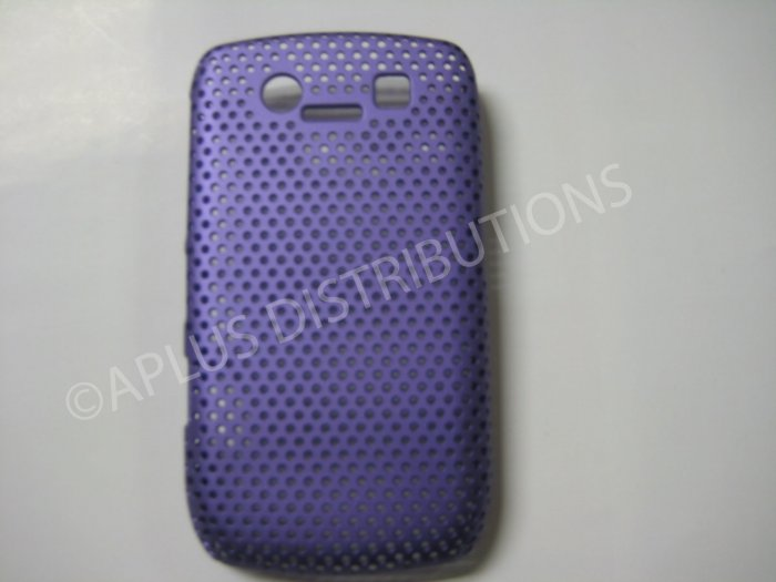 New Purple Lattice Pattern Design Hard Protective Cover For Blackberry 8900 - (0060)