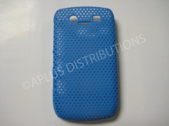 New Light Blue Lattice Pattern Design Hard Protective Cover For Blackberry 8900 - (0062)