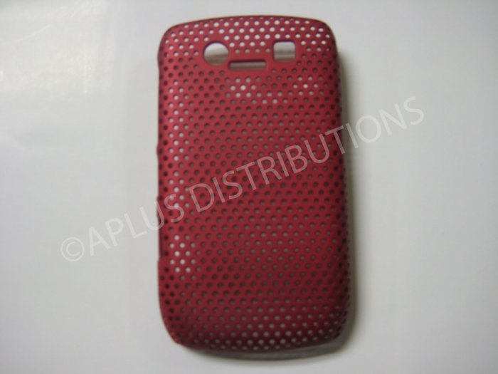 New Red Lattice Pattern Design Hard Protective Cover For Blackberry 8900 - (0058)