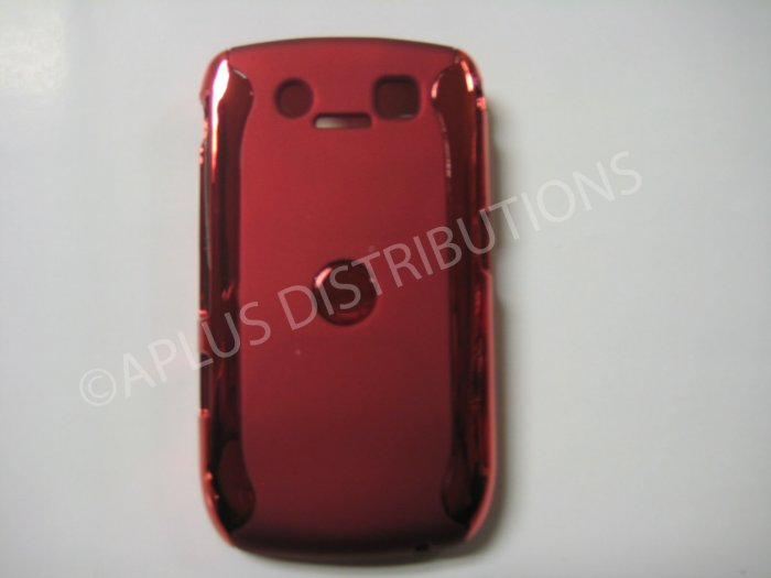 New Red Metallic Two Piece Design Hard Protective Cover For Blackberry 8900 - (0119)