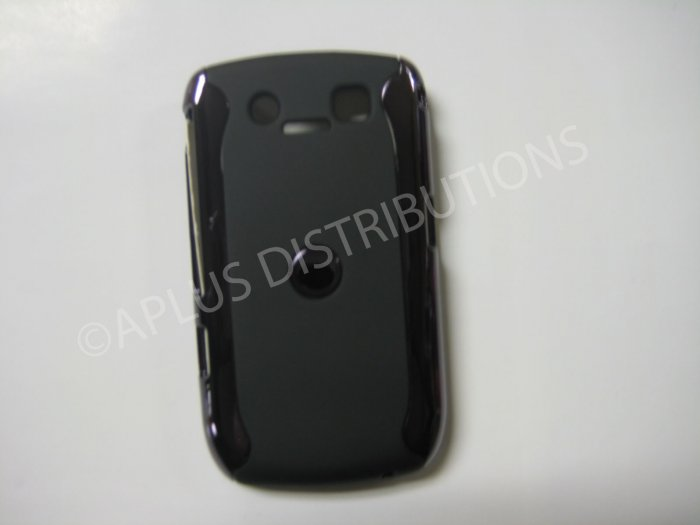 New Black Metallic Two Piece Design Hard Protective Cover For Blackberry 8900 - (0121)