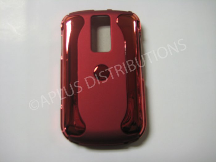 New Red Metallic Two Piece Design Hard Protective Cover For Blackberry 9000 - (0119)