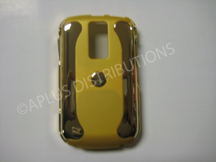 New Yellow Metallic Two Piece Design Hard Protective Cover For Blackberry 9000 - (0116)