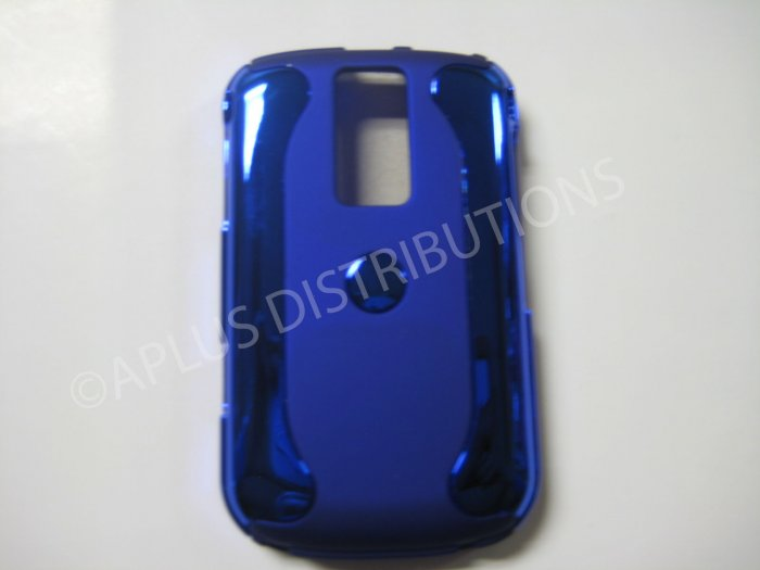 New Blue Metallic Two Piece Design Hard Protective Cover For Blackberry 9000 - (0124)